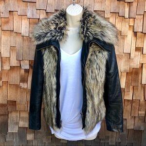 VENUS Faux Fur & Leather Moto Jacket ❤️